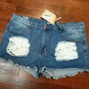 Boohoo jeans shorts